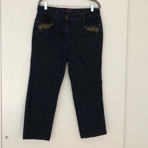 Basler embroidered jeans